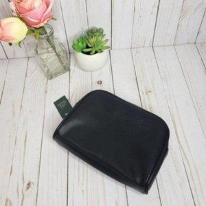Wild Fable Faux Black Leather Cosmetic Case Bag
